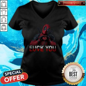 Awesome Deadpool Fuck You Love You V-neck