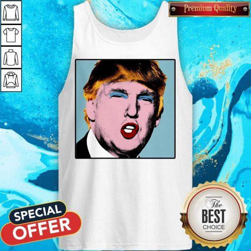Donald Trump Makeup Style Warhol Tank Top