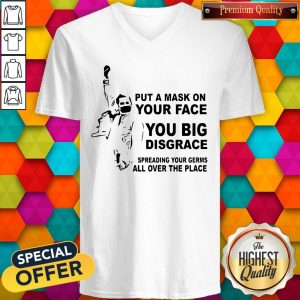 Freddie Mercury Put A Mask On Your Face You Big Disgrace Spreading V-neck