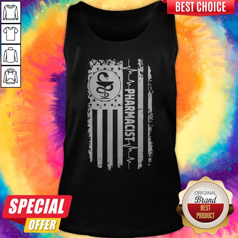 Funny Independence Day Pharmacist Beat Tank Top