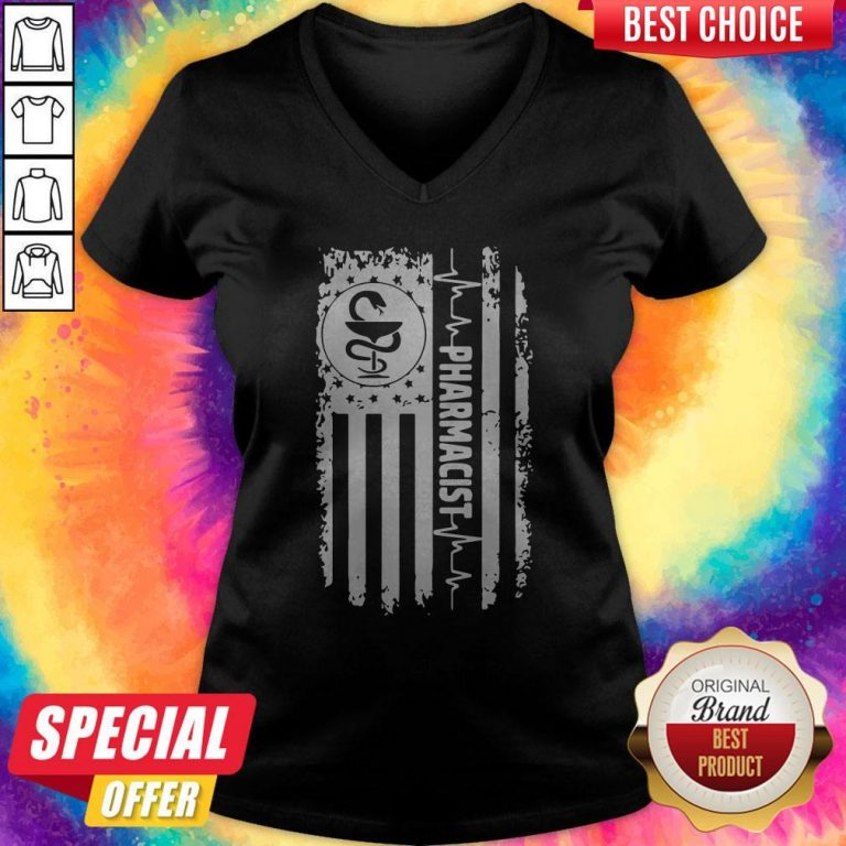 Funny Independence Day Pharmacist Beat V-neck