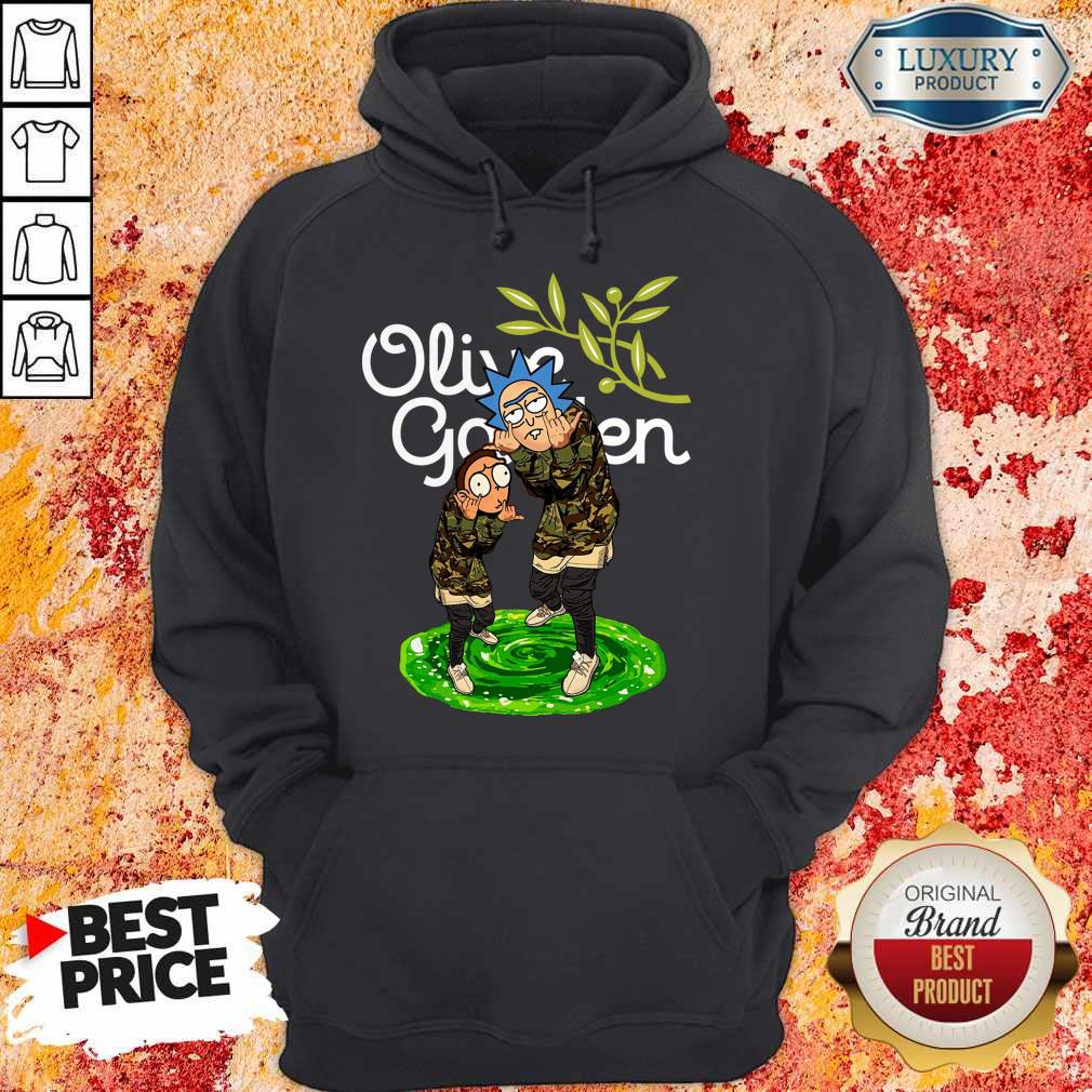 Garden Rick And Morty Olive Hoodie