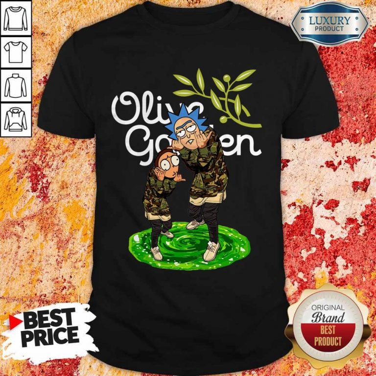 Garden Rick And Morty Olive Shirt