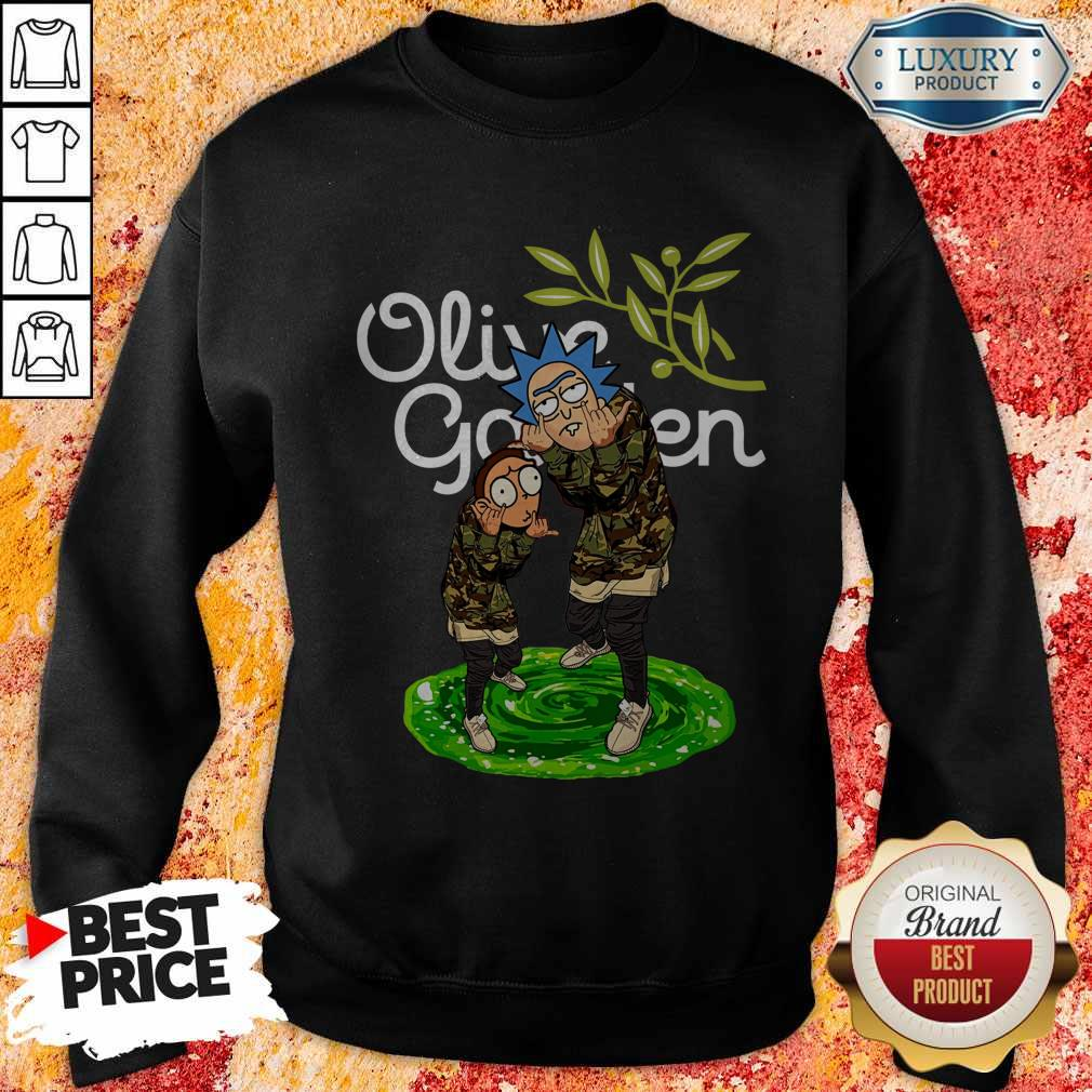 Garden Rick And Morty Olive Sweatshirt