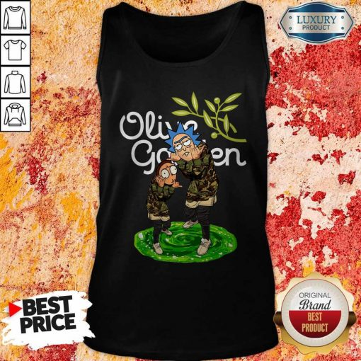 Garden Rick And Morty Olive Tank Top