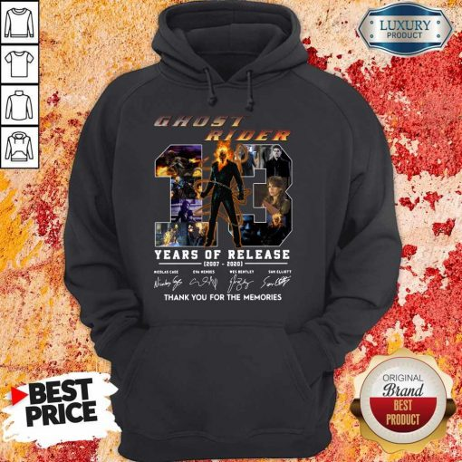 Ghost Rider 13 Years Of Release 2007 2020 Thank You For The Memories Signatures Hoodie