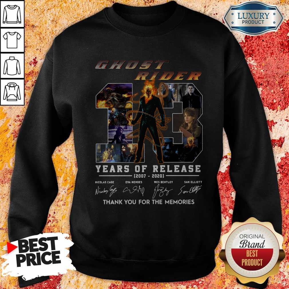 Ghost Rider 13 Years Of Release 2007 2020 Thank You For The Memories Signatures Sweatshirt