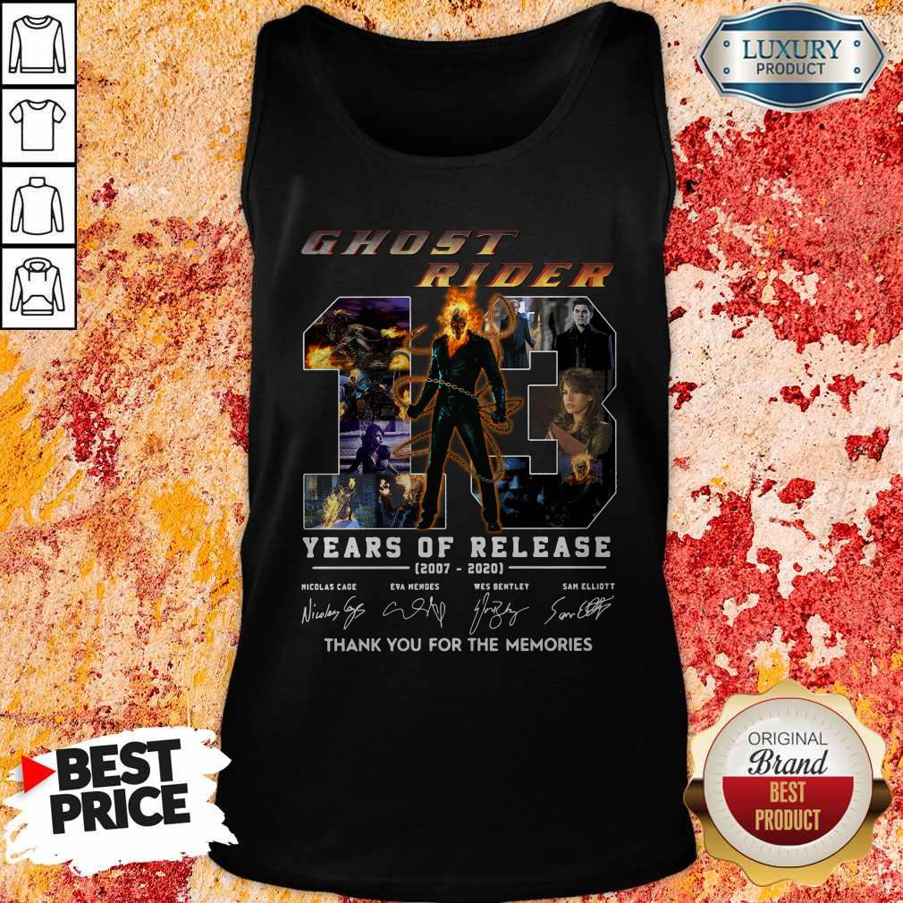 Ghost Rider 13 Years Of Release 2007 2020 Thank You For The Memories Signatures Tank Top