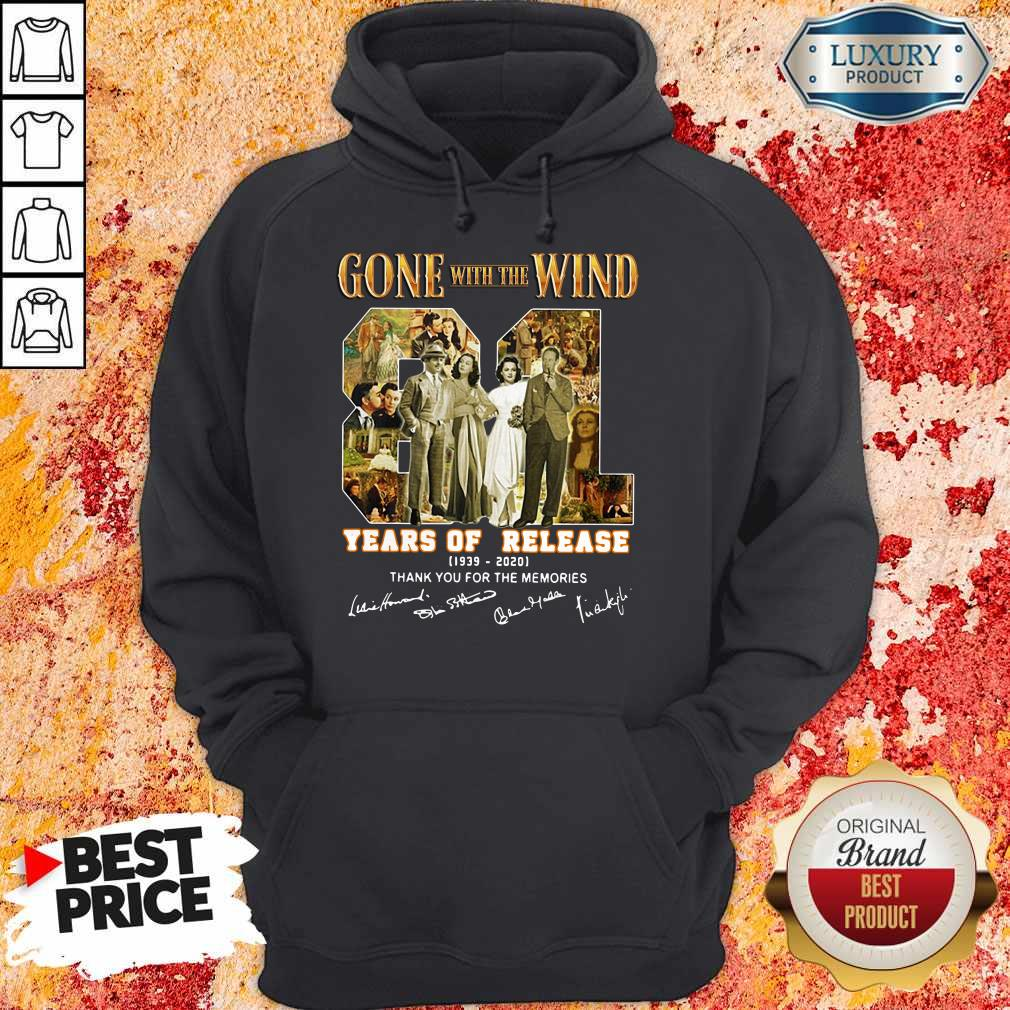 Gone With The Wind 81 Years Of Release 1939 2020 Thank You For The Memories Signatures Hoodie