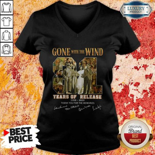 Gone With The Wind 81 Years Of Release 1939 2020 Thank You For The Memories Signatures V-neck