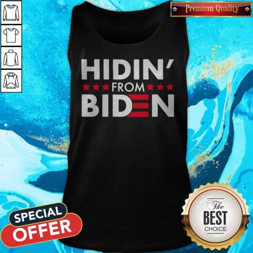 Hidin' From Biden 2020 Vote Tank Top