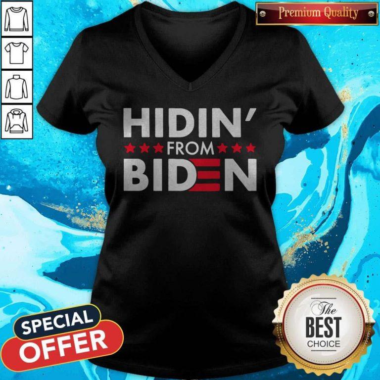 Hidin' From Biden 2020 Vote V-neck