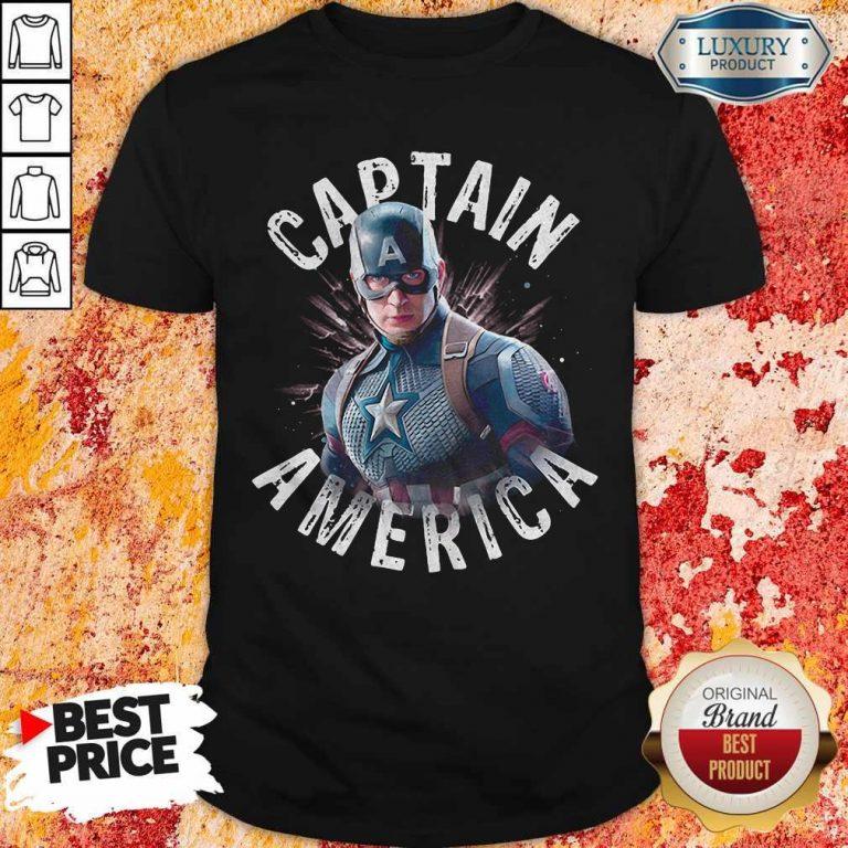 Marvel Avengers Endgame Captain America Shirt