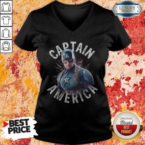 Marvel Avengers Endgame Captain America V-neck