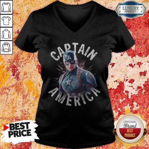Marvel Avengers Endgame Captain America V-neck
