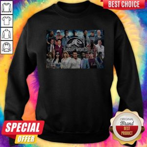 Nice Jurassic World Movie Characters Signatures Sweatshirt