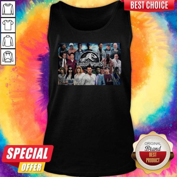 Nice Jurassic World Movie Characters Signatures Tank Top