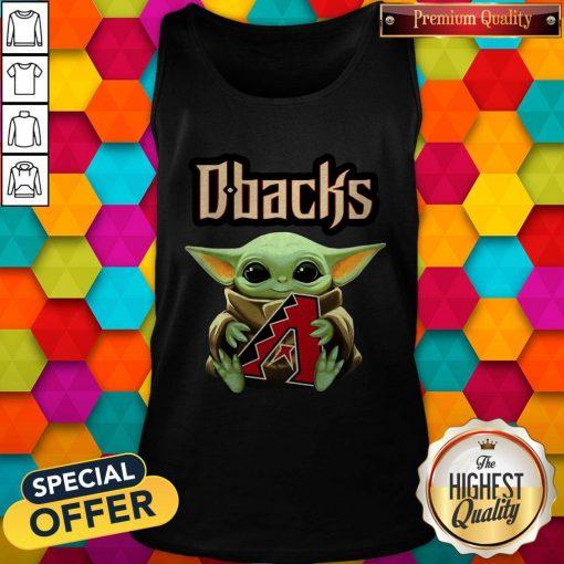 Baby Yoda Hug Arizona Diamondbacks Logo Tank Top
