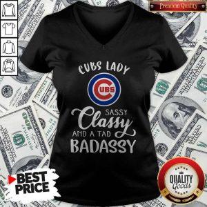 Cubs Lady Sassy Classy And A Tad Bad Assy V-neck