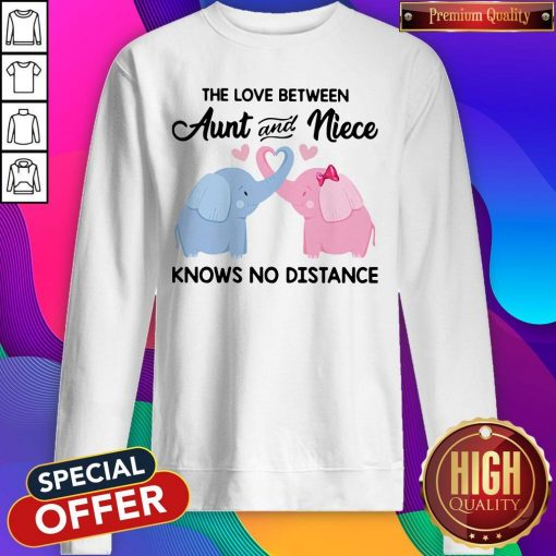 Elephant The Love Between Aunt And Niece Knows No Distance Sweatshirt