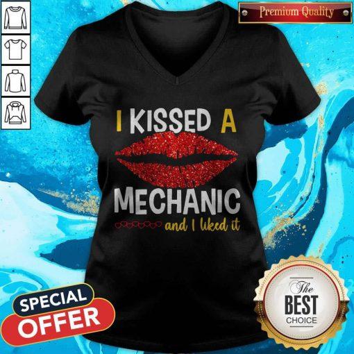 I Kissed A Mechanic And I Liked It V-neck