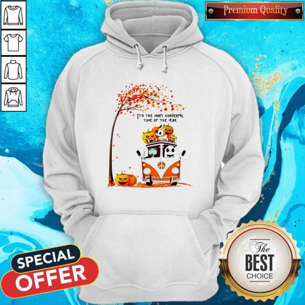 Jack Skellington And Sally Hippie It's The Most Wonderful Time Of The Year Happy Halloween Hoodie