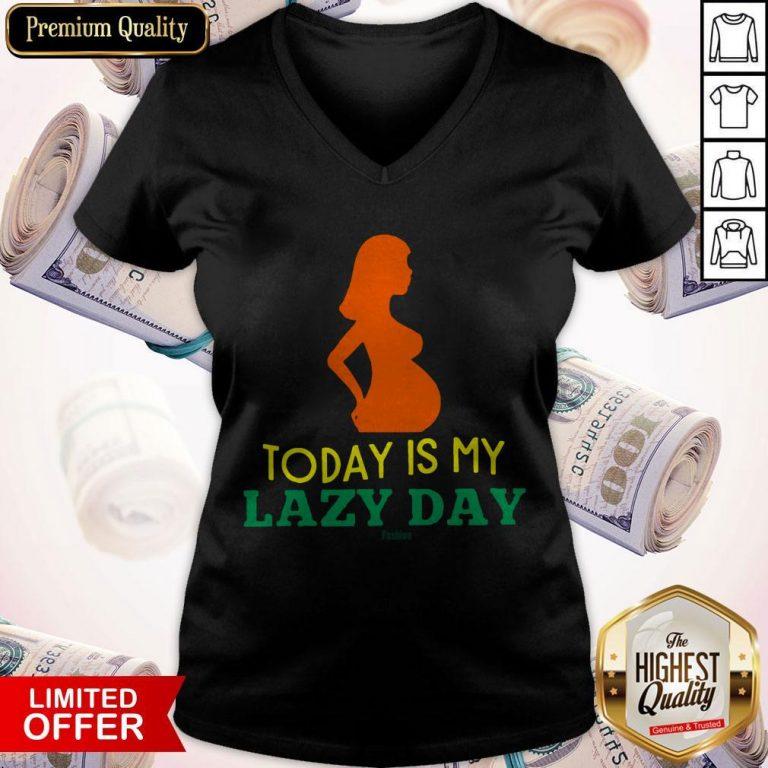 Lazy Mom'S Day Mother'S Lazy Woman Women'S Plus Size V-neck