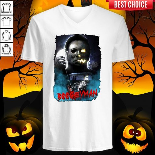 Michael Myers Boogeyman Happy Halloween V-neck