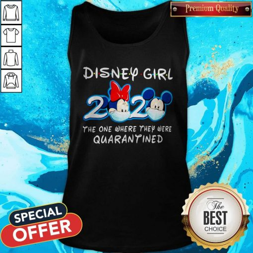 Mickey Face Mask Disney Girl 2020 The One Where They Were Quarantined Tank Top