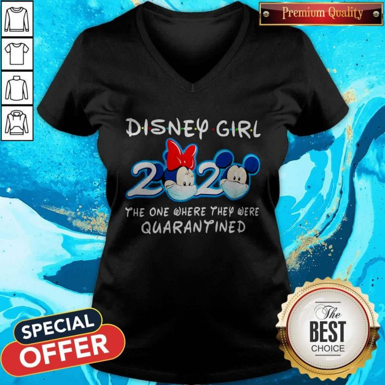 Mickey Face Mask Disney Girl 2020 The One Where They Were Quarantined V-neck