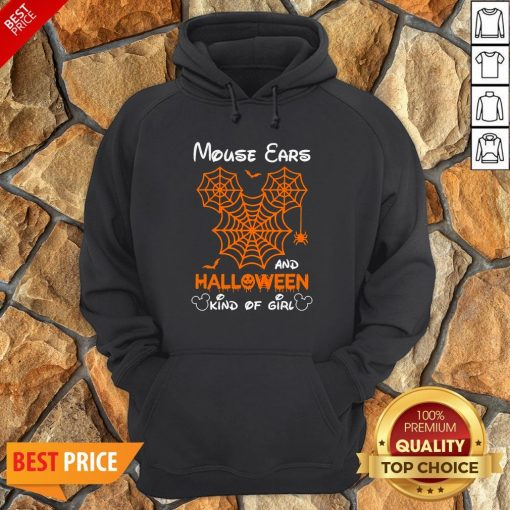 Mickey Mouse Ears And Halloween Kind Of Girls Hoodie