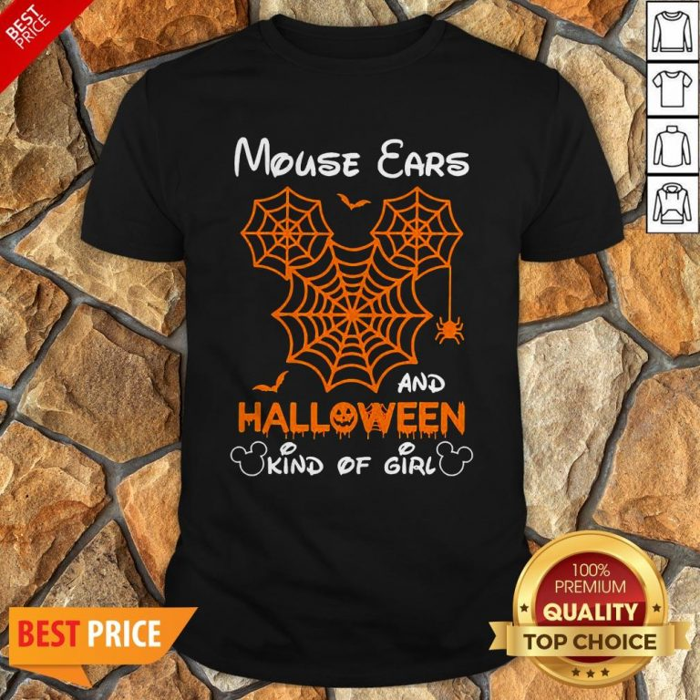 Mickey Mouse Ears And Halloween Kind Of Girls Shirt
