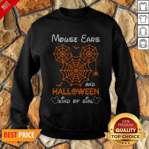 Mickey Mouse Ears And Halloween Kind Of Girls Sweatshirt