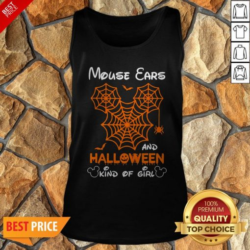 Mickey Mouse Ears And Halloween Kind Of Girls Tank Top