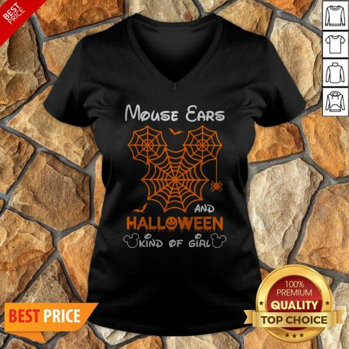 Mickey Mouse Ears And Halloween Kind Of Girls V-neck