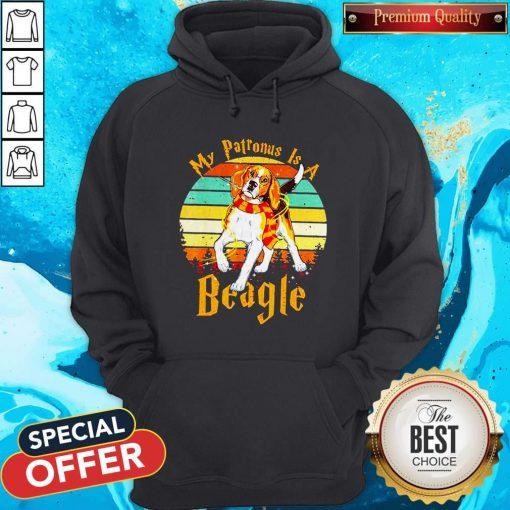 My Patronus Is A Beagle Vintage Hoodie