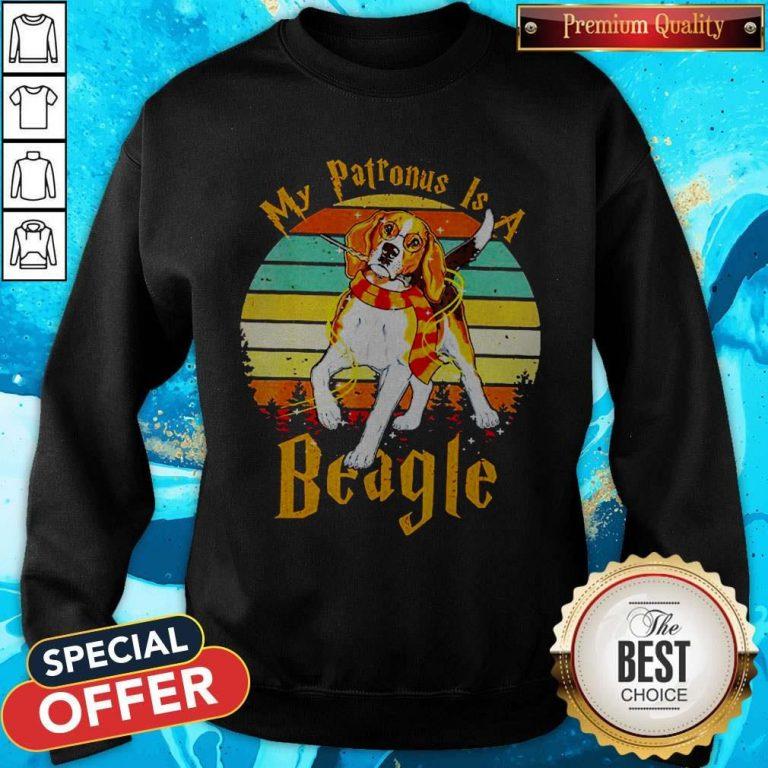 My Patronus Is A Beagle Vintage Sweatshirt