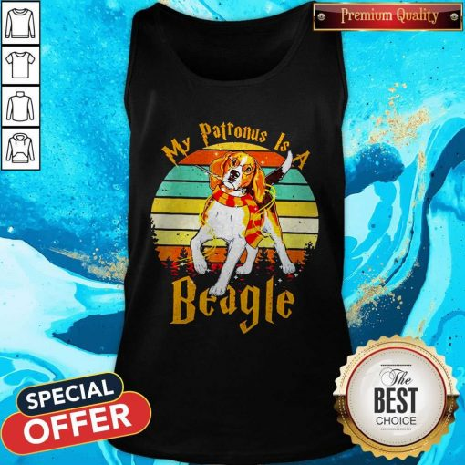 My Patronus Is A Beagle Vintage Tank Top