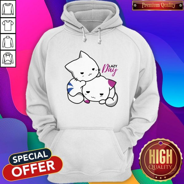 Nice Lazy Day Cats Women's Plus Size Hoodie