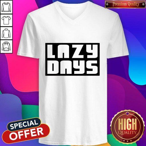 Nice Lazy Days Unisex Tri-Blend V-neck