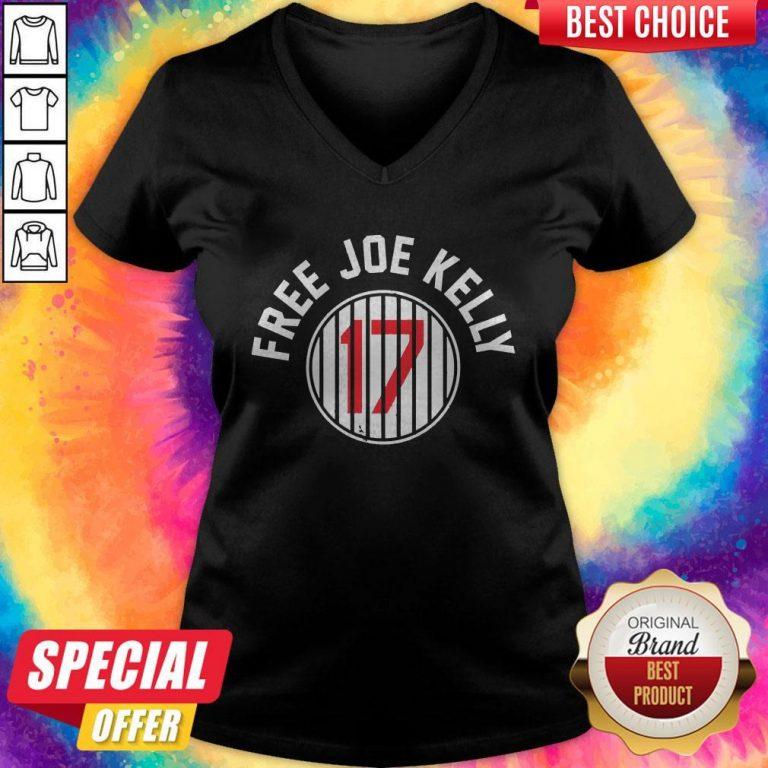 Nice Los Angeles Dodgers 17 Free Joe Kelly V-neck