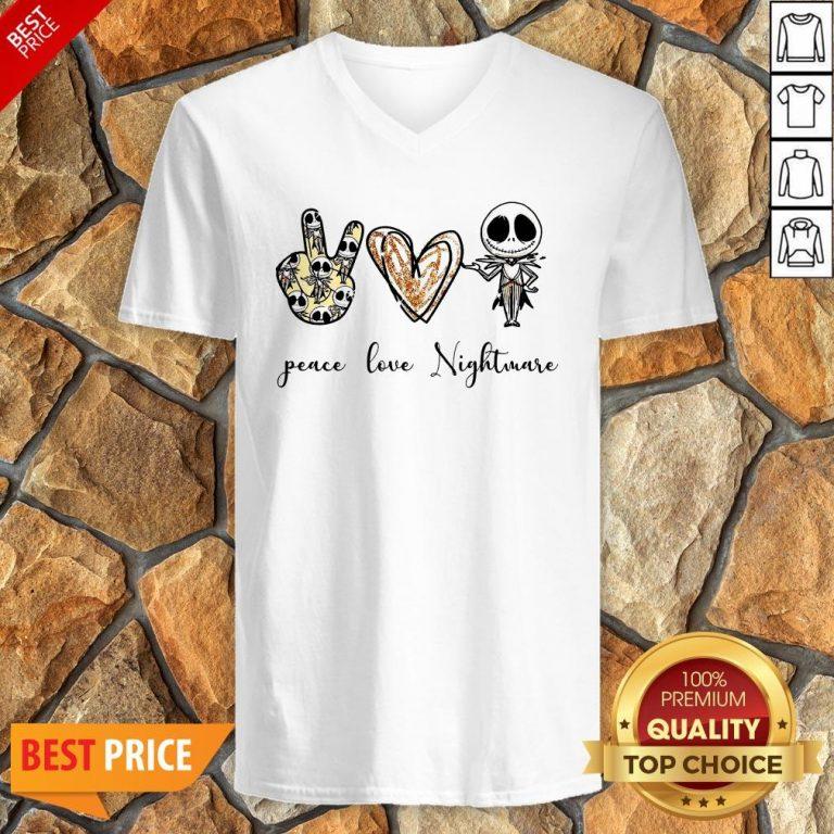 Nice Peace Love Nightmare V-neck