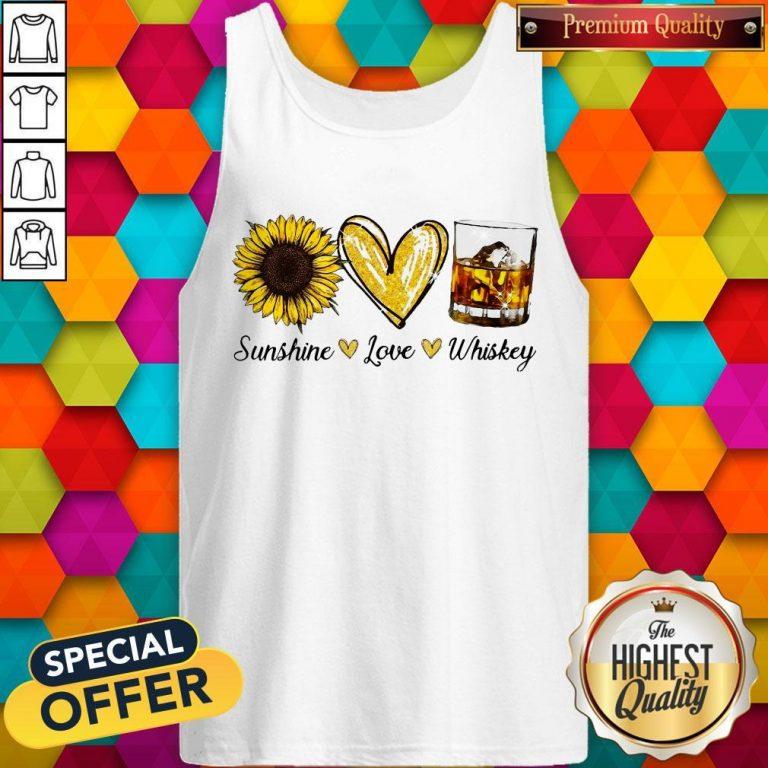 Nice Sunshine Love Whiskey Tank Top