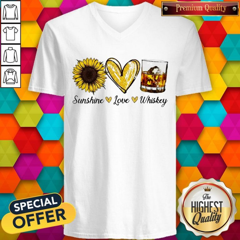 Nice Sunshine Love Whiskey V-neck