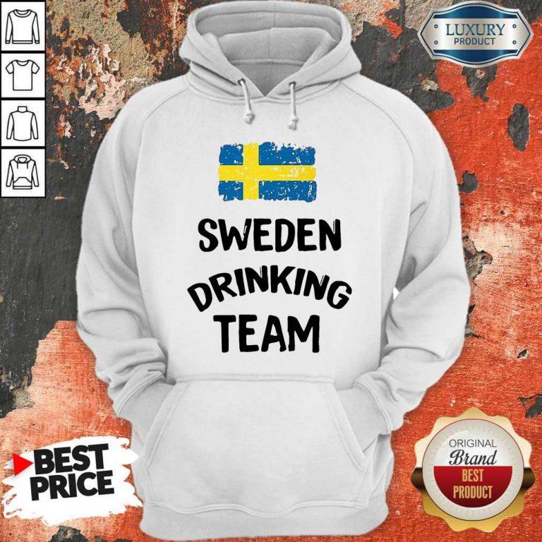 Nice Sweden Drinking Team Hoodie