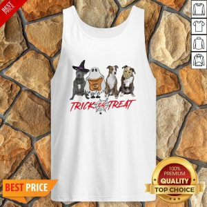 Nice Terrier Dog Trick Or Treat Tank Top