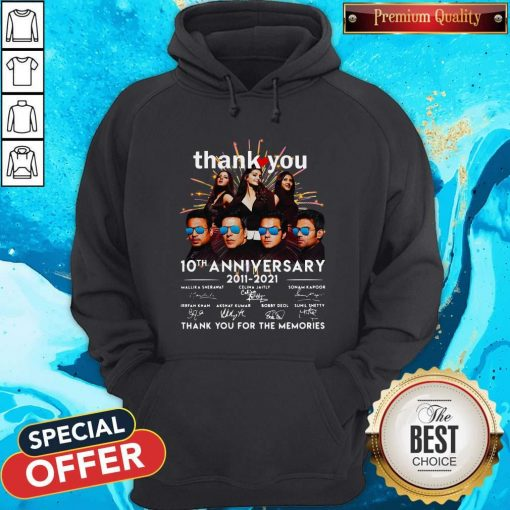 Nice Thank You 10th Anniversary 2011 2021 Thank You For The Memories Signatures Hoodie