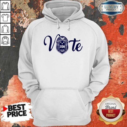 Nice Vote Zeta Phi Beta Crest Hoodie