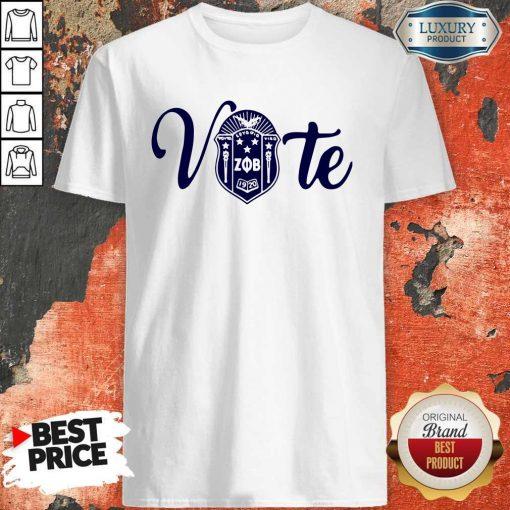 Nice Vote Zeta Phi Beta Crest Shirt