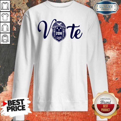 Nice Vote Zeta Phi Beta Crest Sweatshirt